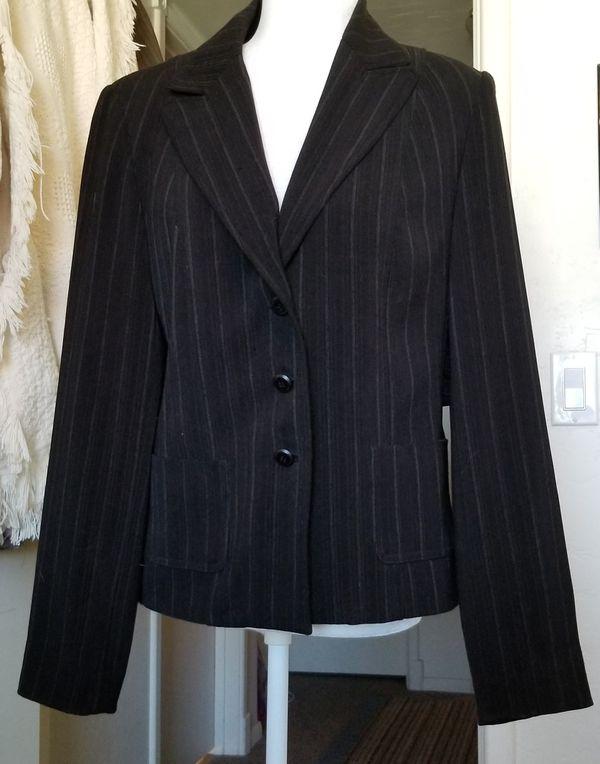 Black grey pinstripe jacket