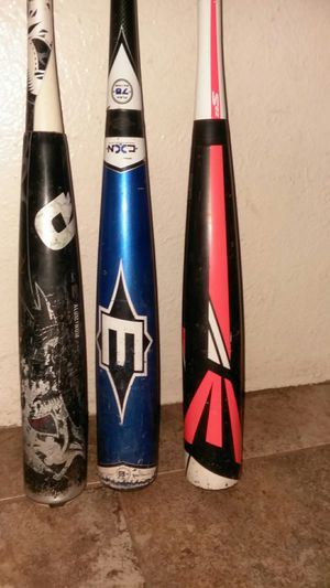 Demarini and two Easton baseball bats for Sale in Phoenix, AZ