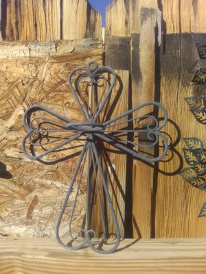 Home Décor hanging wall Iron Cross candle holder for Sale in Twentynine Palms, CA