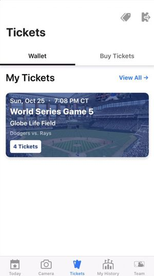 Los Angeles Dodgers Vs Tampa Bay Rays (Game 5) for Sale in Arlington, TX