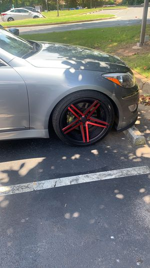 """AXE design original RED luxury alloy 20"""" rims for Sale in FAIRMOUNT HGT, MD"""