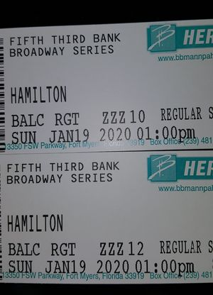 """2 tickets to """" Hamilton"""" for Sale in Cape Coral, FL"""