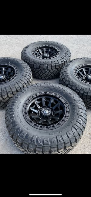 New Fuel Black rims and Nitto Ridge Grappler Tires Fuels Wheels 6 Lug will Fit Ford F150 , Chevy Silverado, GMC Sierra , Toyota Tacoma / 4Runner , Ni for Sale in Dallas, TX