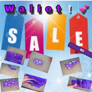 Wallet-purple w/ stars for Sale in Chandler, AZ