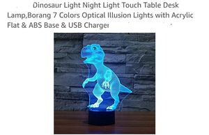 New 3D Dinosaur Color Changing Lamp for Sale in Memphis, TN