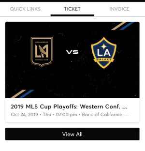 Playoffs tickets $400 for both section 234 row D seats 13,14 for Sale in Whittier, CA