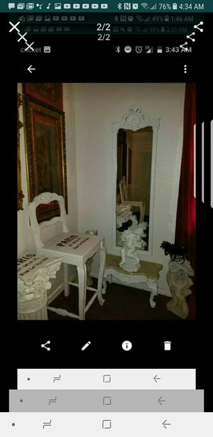 Beautiful mirror and stand with marble top for Sale in Phoenix, AZ