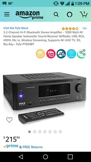 Pyle 5.2 Channel Stereo Amplifier for Sale in Lakewood, CO