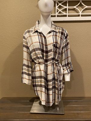 Brown flannel tunic for Sale in Fresno, CA