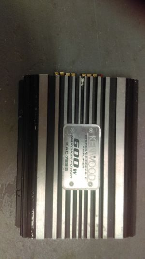 Kenwood Car amplifier 600 watts for Sale in Boston, MA