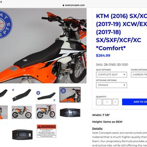 Upgraded KTM Motorcycle Seat by Seat Concepts for Sale in Chandler, AZ