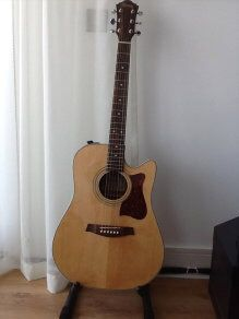 Ibanez AE Series AE305NT Solid Top Acoustic-Electric Guitar High Gloss Natural for Sale for sale  Elizabeth, NJ