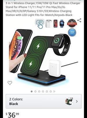 3 in 1 Wireless Charger,15W/10W Qi Fast Wireless Charger for Sale in Shady Shores, TX