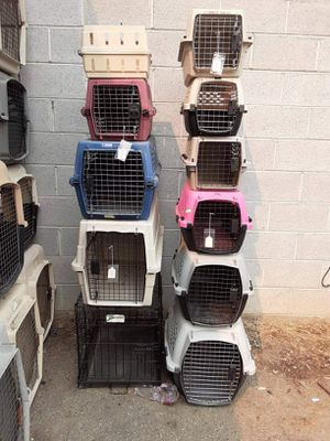 Small dog kennels dog crates or cat kennels prices for each for Sale in Boise, ID