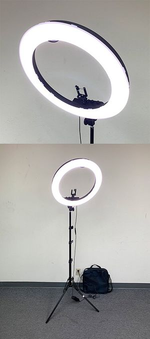 """New in box $90 each LED 19"""" Ring Light Photo Stand Lighting 50W 5500K Dimmable Studio Video Camera for Sale in Pico Rivera, CA"""