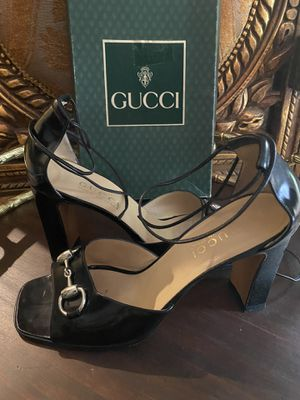 GUCCI Black Leather Lace Heels for Sale in Spring, TX