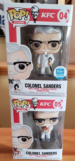 Lot of 2 KFC Colonel Sanders Funko Pops! for Sale in Arlington, WA