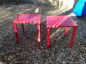 Red Metal Tables - set of 2 for Sale in Phoenix, AZ