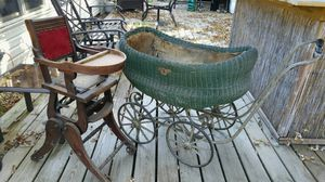Antique Carriage & Hi chair for Sale in Glen Burnie, MD