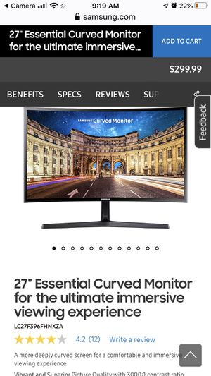 "Samsung 27"" Curved Monitor for Sale in Battle Ground, WA"