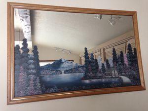 Mirror w/Cabin, Trees, Mountain Scene for Sale in Leavenworth, WA