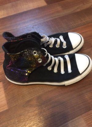 Converse Chuck Taylor All Star Velcro sneakers Size 4 for Sale in Severn, MD
