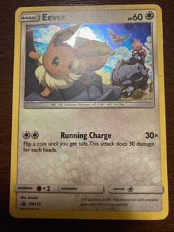 Eevee - Holographic Pokemon Card for Sale in San Jose,  CA