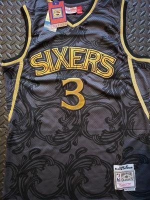 Philadelphia 76ers Allen Iverson Black Toile Classic Jersey. for Sale in Hoffman Estates, IL