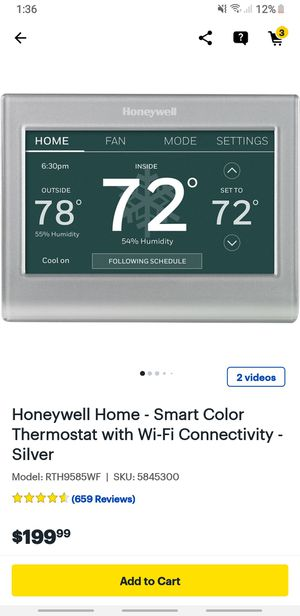 Honeywell's Smart thermostat for Sale in Katy, TX