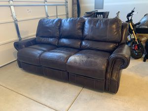 Brown leather couches recline for Sale in Bend, OR