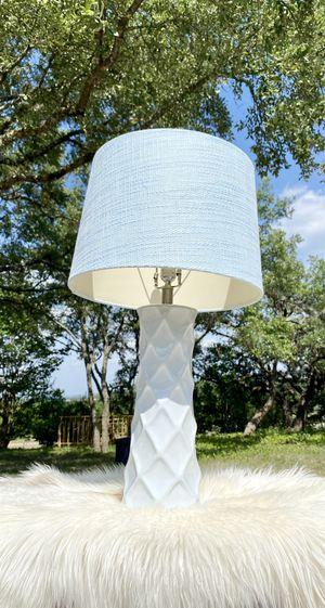 Diamond lamp + shade for Sale in San Antonio, TX