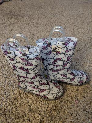 Girls Hello Kitty Rain Boots Size 11 for Sale in Sun City, AZ