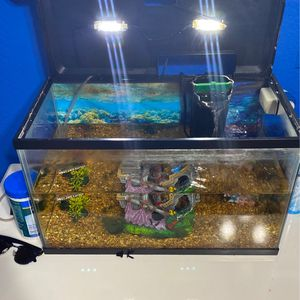 2 Fish Tanks For Sale⭕️FILTERS, AIR PUMP, FOOD, DECOR ALL INCLUDED⭕️ Need Gone ASAP for Sale in Lake Worth, FL