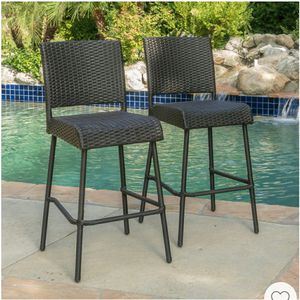 Outdoor Wicker barstools set of 2 for Sale in Pico Rivera, CA