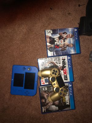 PS4 w charger 2 controllers and 2ds with charger for Sale in Haines City, FL