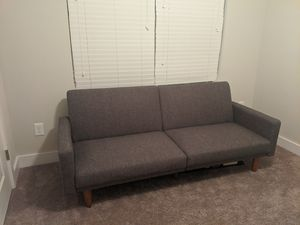 Grey Futon convertible Sofa for Sale in Jamestown, NC
