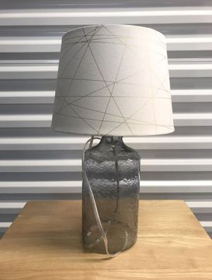 Beautiful Glass Table Lamp with Linen Shade for Sale in Fort Lauderdale, FL