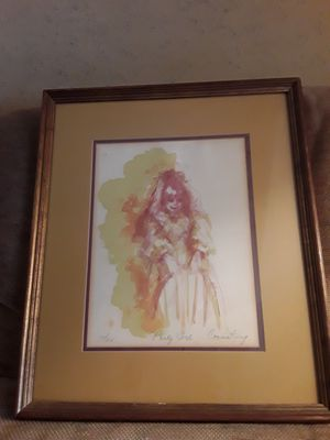 """Framed Artwork """"Party Girl"""", limited edition signed and certified for Sale in Kent, WA"""