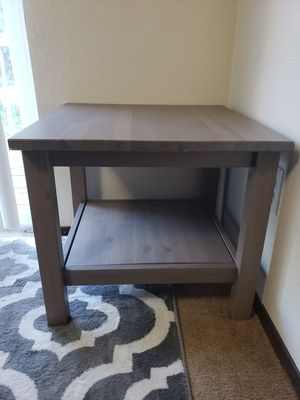 Gray ikea hemnes side table (not available anymore) for Sale in Mukilteo, WA