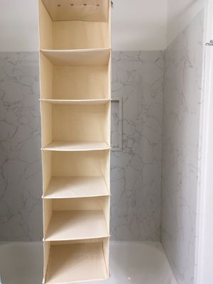 Canvas 6 Shelf Hanging Sweater Closet & Clothing Organizer for Sale in San Jose, CA