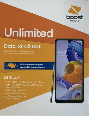 Get a BRAND NEW LG Stylo 6 for FREE when you switch to Boost! for Sale in Orlando, FL