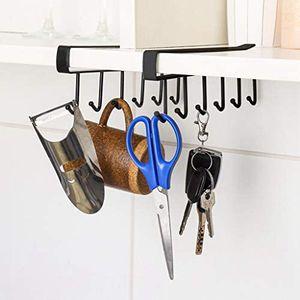 2PC Kitchen Storage Rack Cupboard 6 Hooks Under-Cabinet Hanger Rack New for Sale in Houston, TX