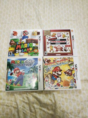 NINTENDO 3DS MARIO GAMES for Sale in Queens, NY