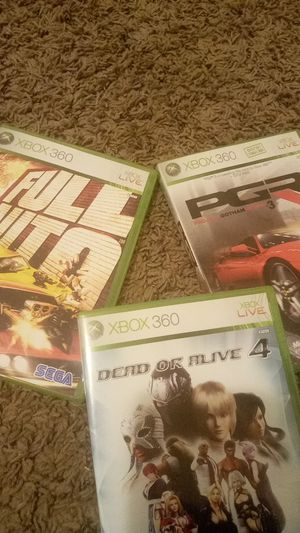 XBOX 360: Dead Or Alive 4, Full Auto, & Project Gotham Racing 3 for Sale in Pontiac, MI