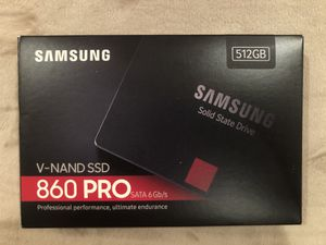 """""""New / Unopened"""" Samsung 860 Pro V-NAND SSD 512G for Sale in Tustin, CA"""