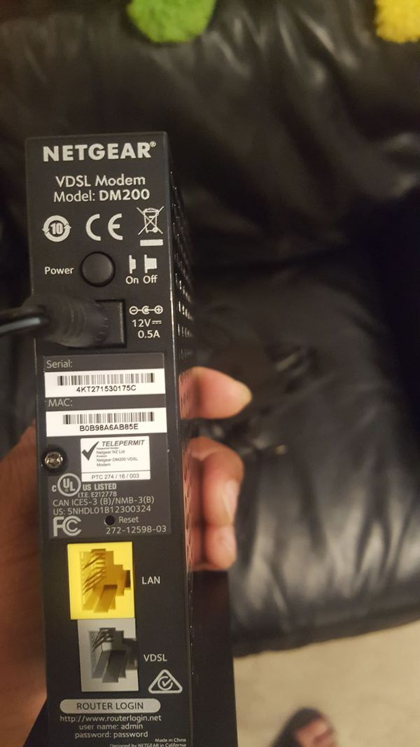 Netgear DSL modem, High-speed internet access