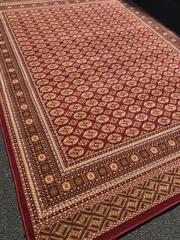 Brand new Bokhara design rug size 8x11 nice red carpet Persian style rugs