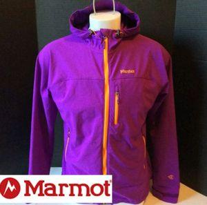 $50.00 Marmot M3 Womens Softshell Tempo full zip hooded Jacket Size XL Purple Orange for Sale in Dallas, TX