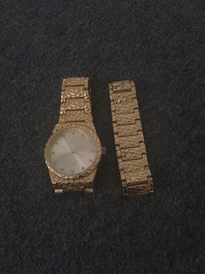 Gold watch and bracelet for Sale in Williamsport, PA