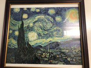 Starry nights picture for sale with frame for Sale in Washington, DC